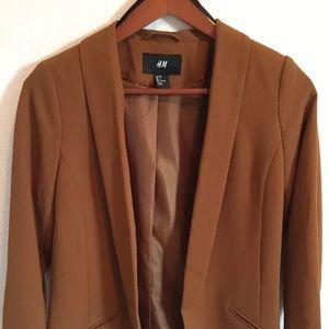 H&M dark camel brown blazer small